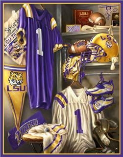 Collegiate Fleece Locker Room Panel Louisiana State University
