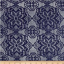 Crochet Doily Lace Navy