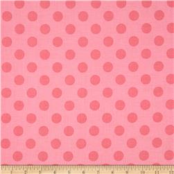 Riley Blake Medium Dots Tone on Tone Hot Pink