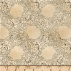 Windham Settlement Antique Floral  Grey