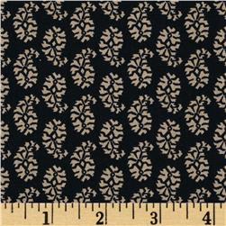 Joyful Small Paisley Black