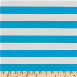 Oil Cloth Stripes Light Blue