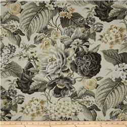 Waverly Floral Flourish Shale Fabric