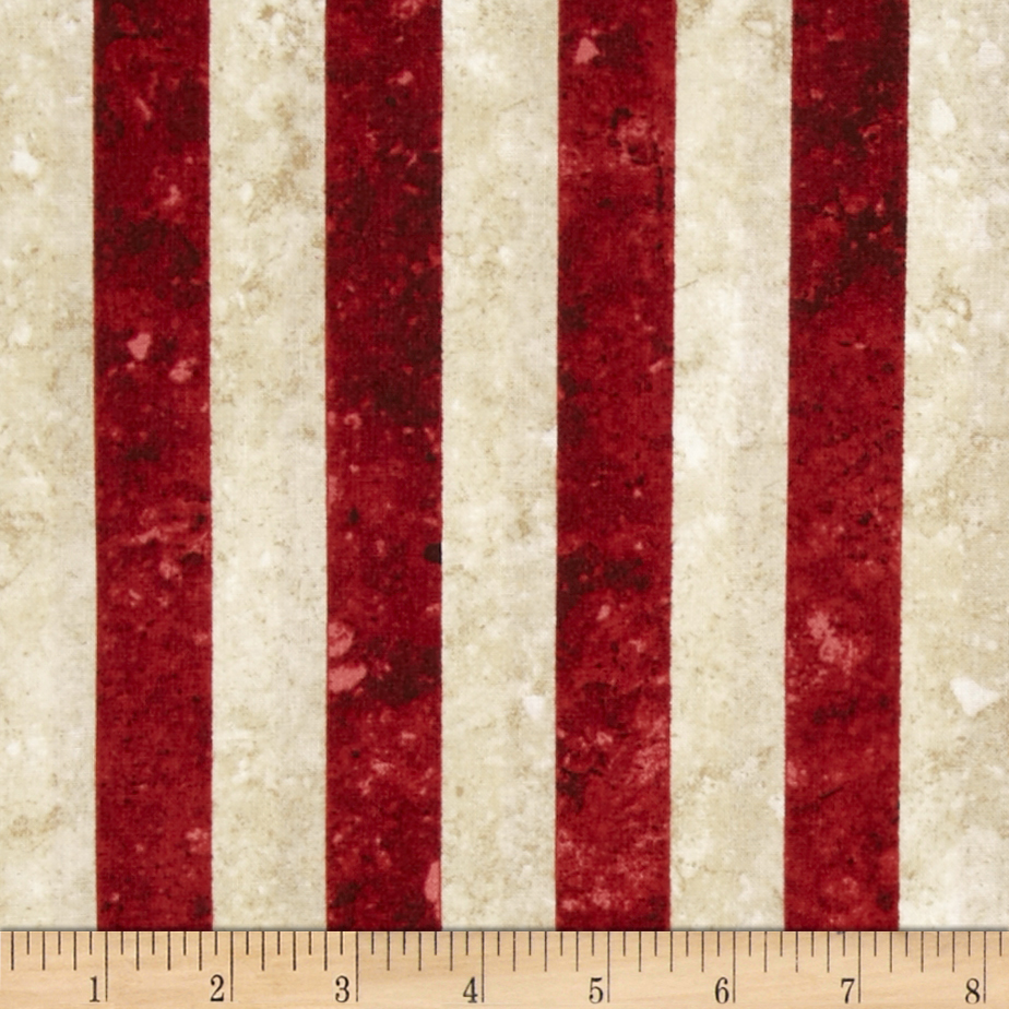 Stonehenge Stars & Stripes Stripes Red/White Fabric