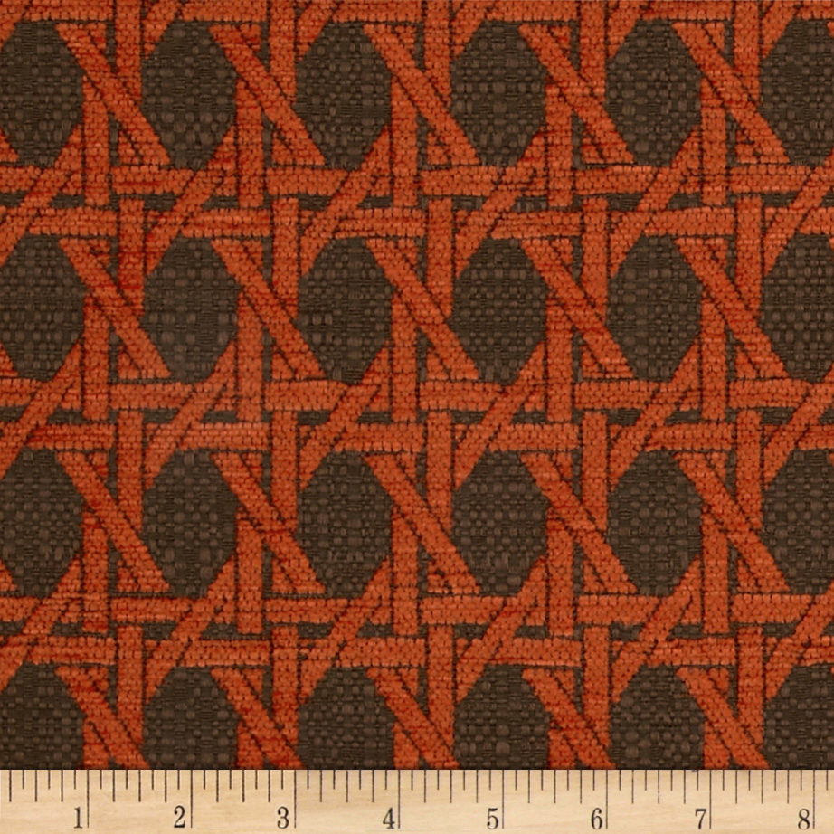Nautica Indoor/Outdoor Island Rattan Persimmon Fabric