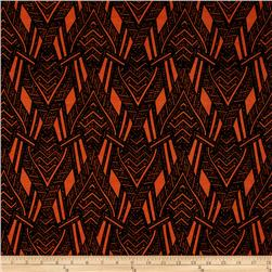 ITY Knit Abstract Arrows Orange