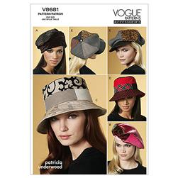 Vogue Hats Pattern V8681 Size OSZ