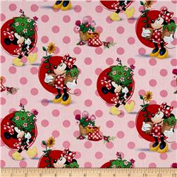 Disney Minnie Traditional Smell the Flowers Pink