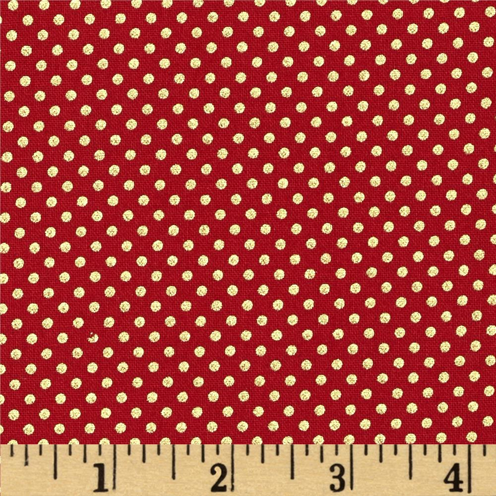 Pearle Gold Small Dot Red/Gold Pearl