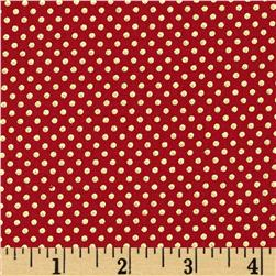 Pearle Gold Small Dot Red/Gold Pearl Fabric