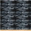 Black, White & Bright Woven Mat Charcoal