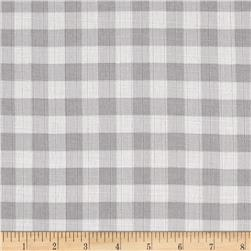 "Riley Blake Double Gauze 1/2"" Gingham Gray"