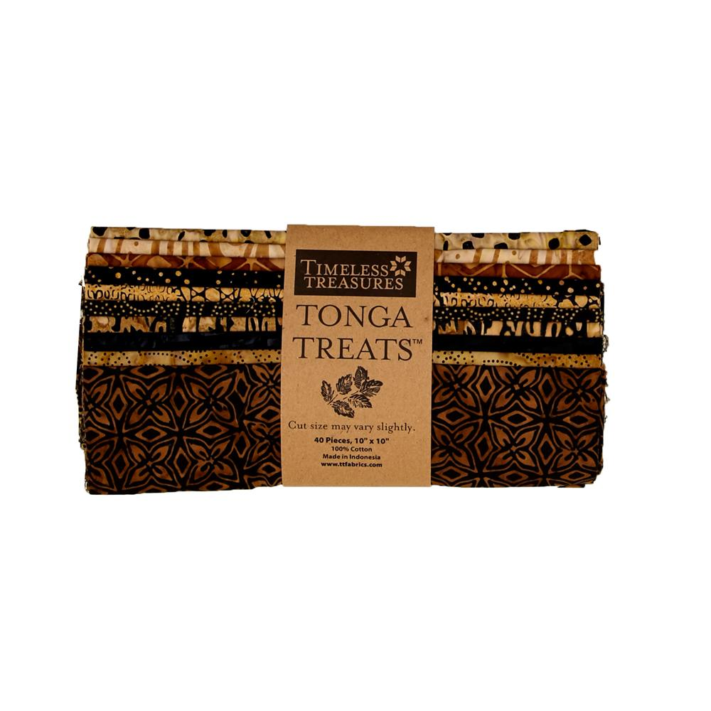 "Timeless Treasures Tonga Batik 10"" Square Packs Chai"