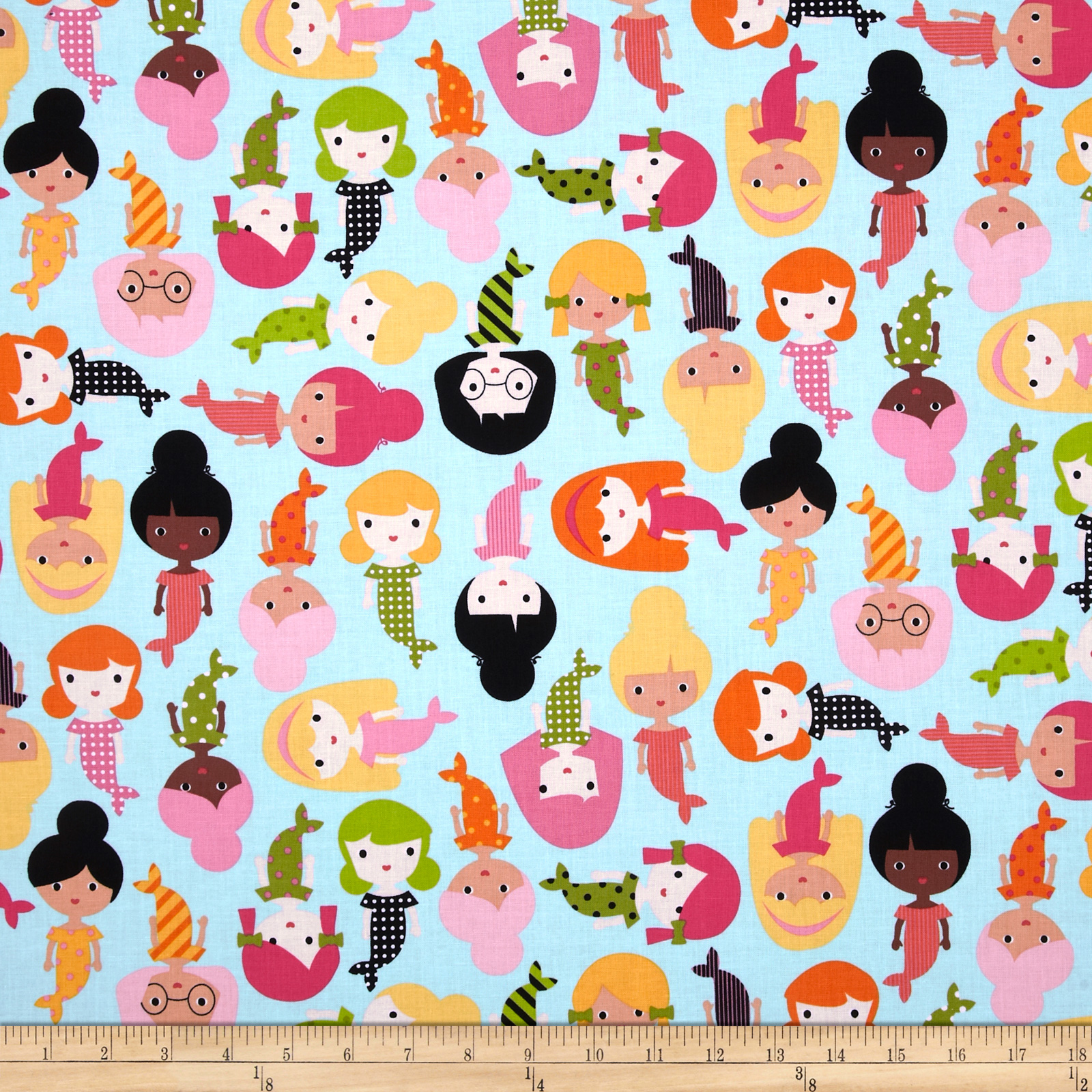 Girl Friends Surf Fabric