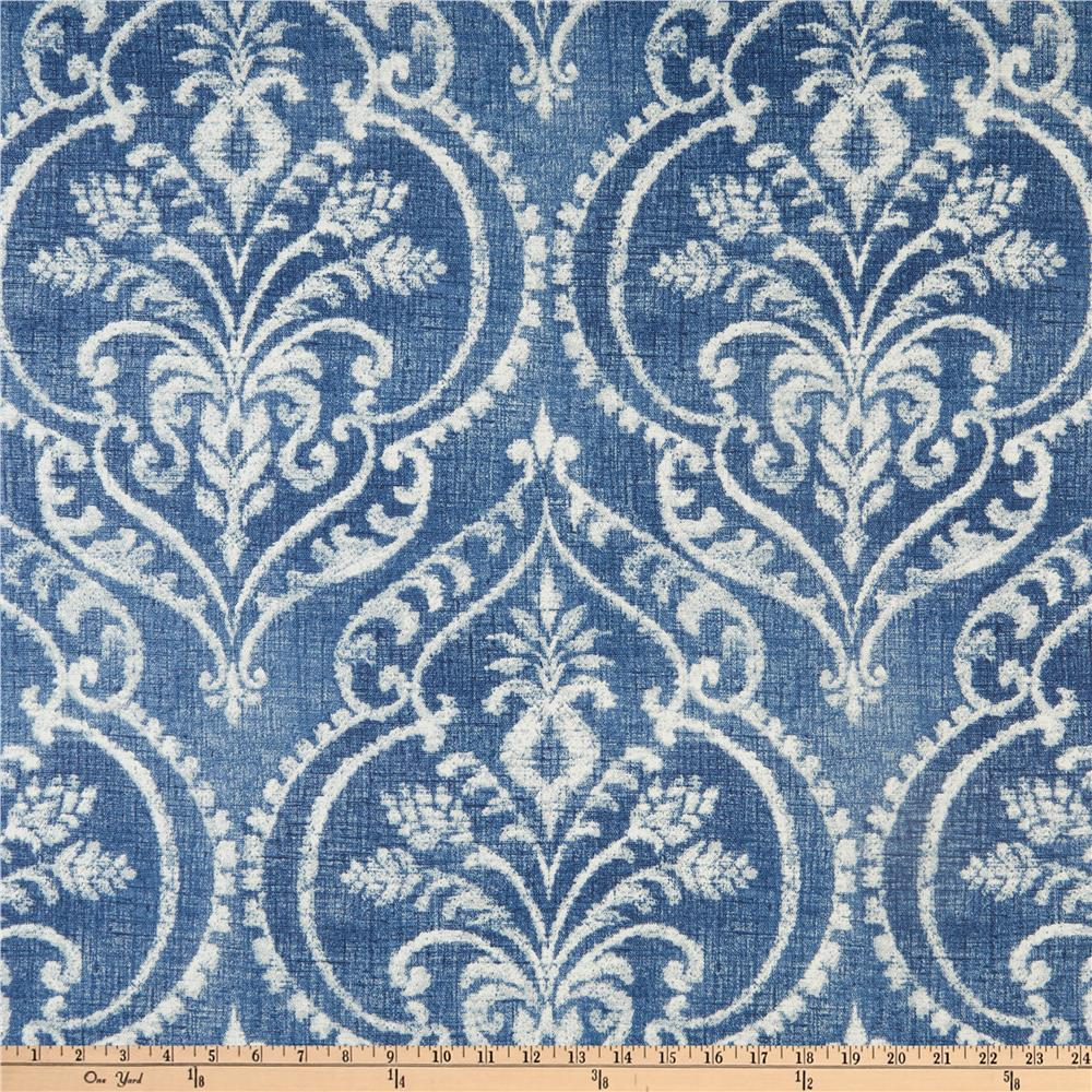 Slipcover fabric by the yard - Zoom Creek Dalusio Damask Denim
