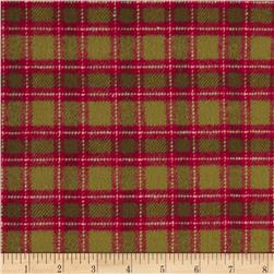 Primo Plaids Christmas Flannel Box Plaid Red/Green