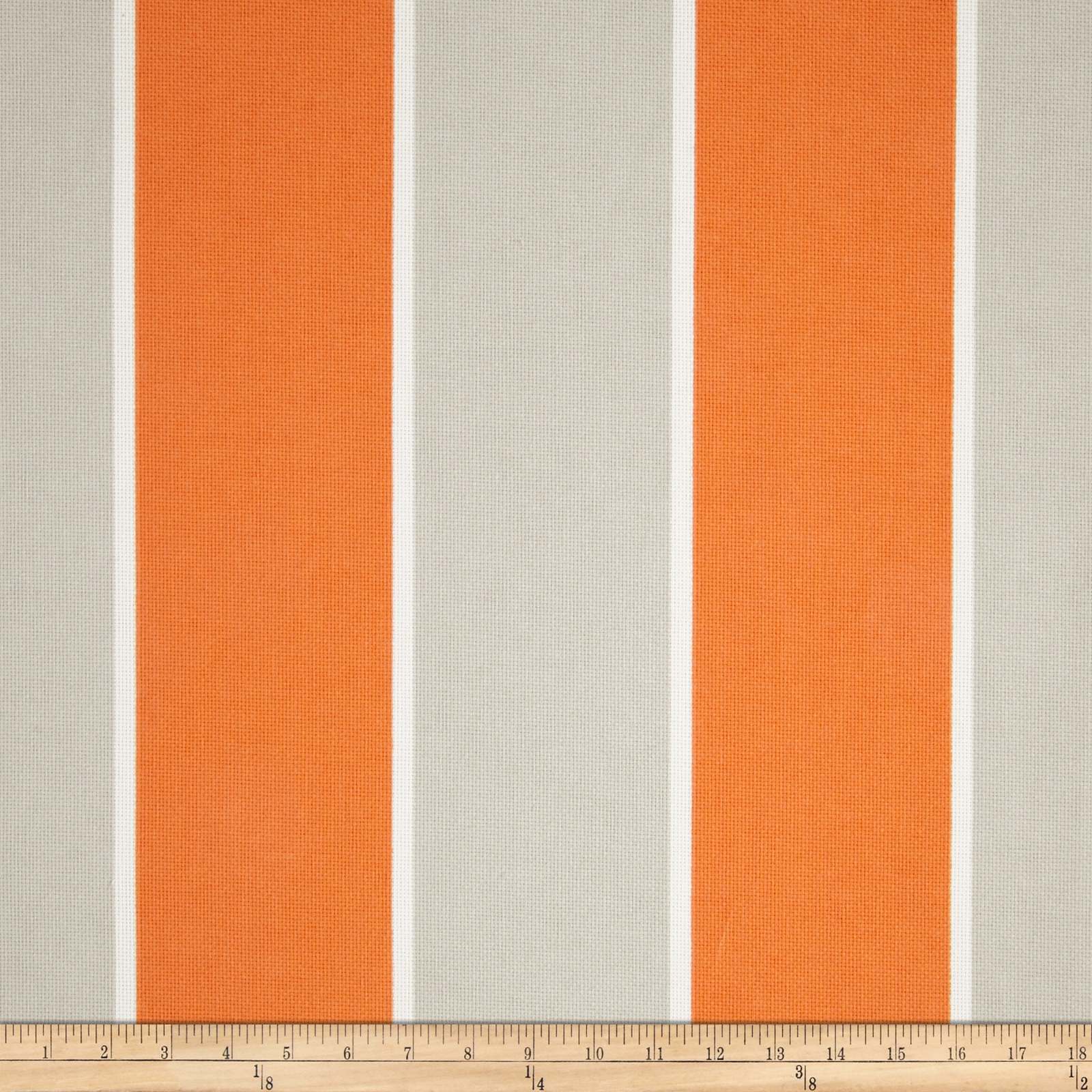 P Kaufmann Indoor/Outdoor Cabana Stripe Tangerine