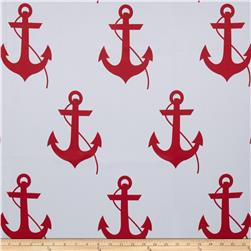 RCA Blackout Drapery Fabric Anchors Red