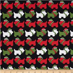 Robert Kaufman Jingle Scottie Dogs Black