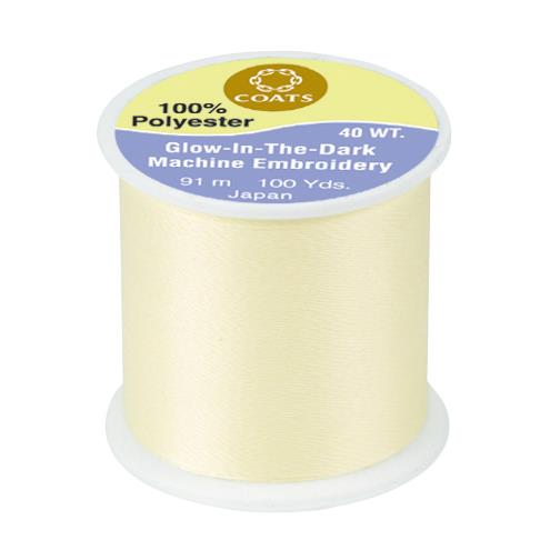 Coats & Clark Glow in the Dark Thread 100yds Yellow