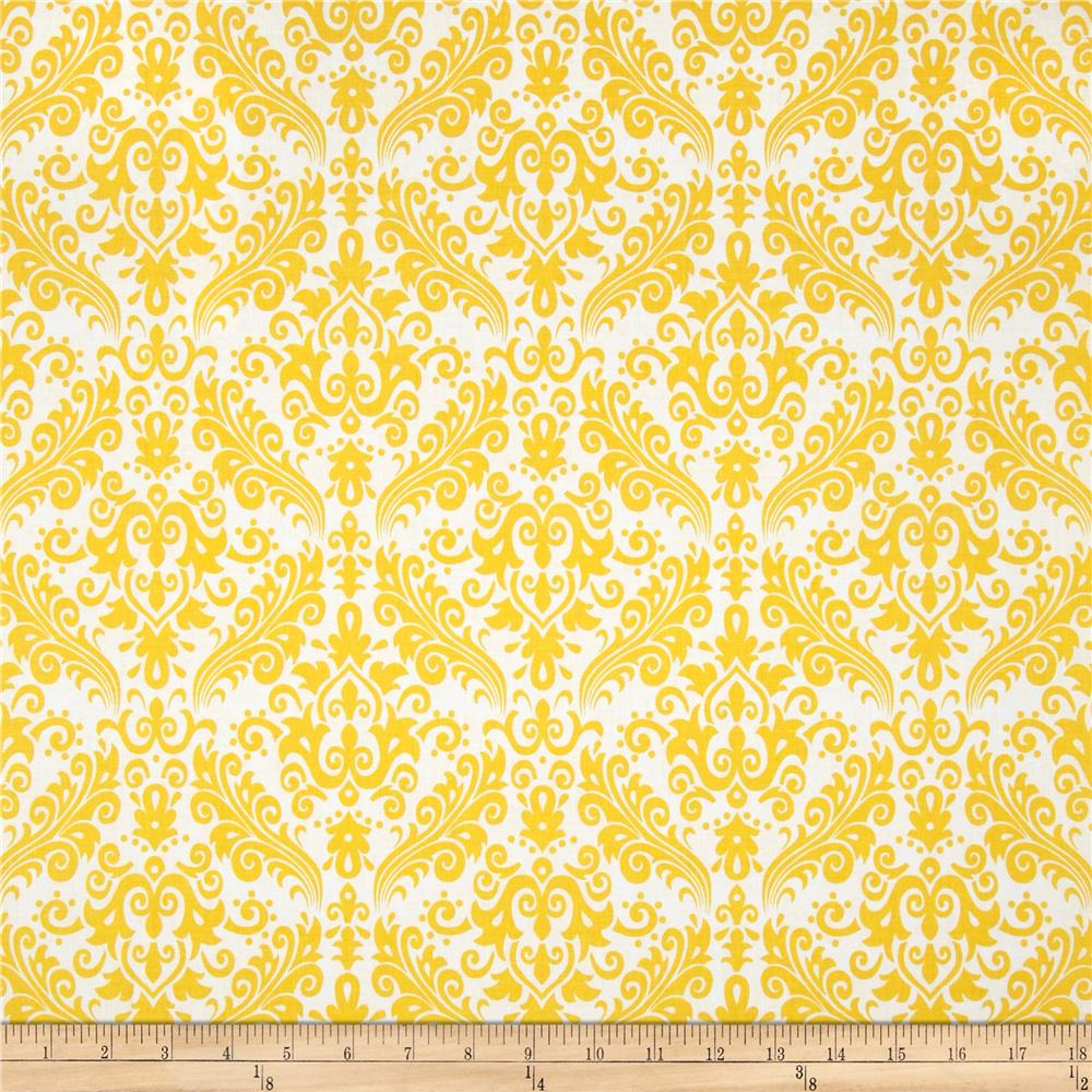Riley Blake Medium Damask White/Yellow