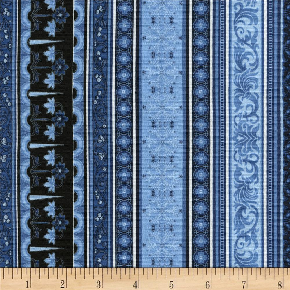 Timeless Treasures St. Nicholas Stripe Blue