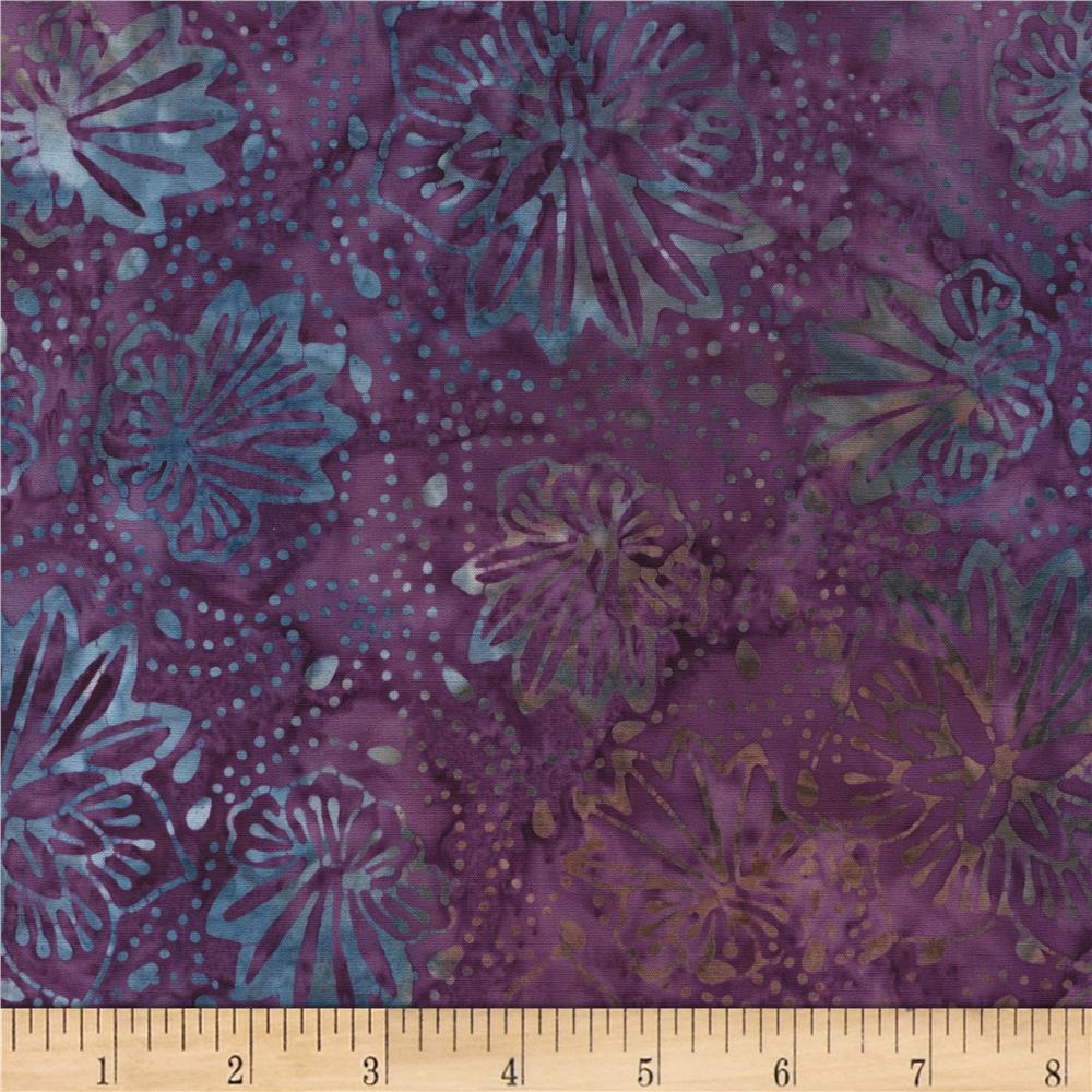 Timeless Treasures Tonga Batiks Kiwi Bloom Purple