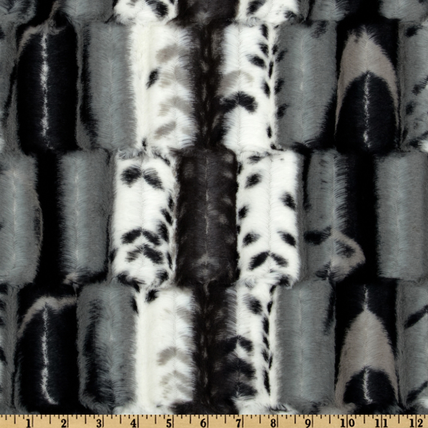 Minky Cuddle Fancy Leopard Black/Grey