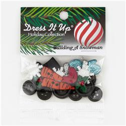 Dress It Up Embellishment Buttons  Building A Snowman