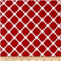 "Kaufman 108"" Wide Spot On Quilt Back Red"