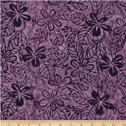 Moda Color Crush Batiks Leaf Amethyst