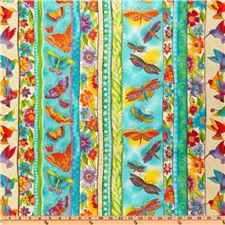 Laurel Burch Flying Colors II Stripe Aqua