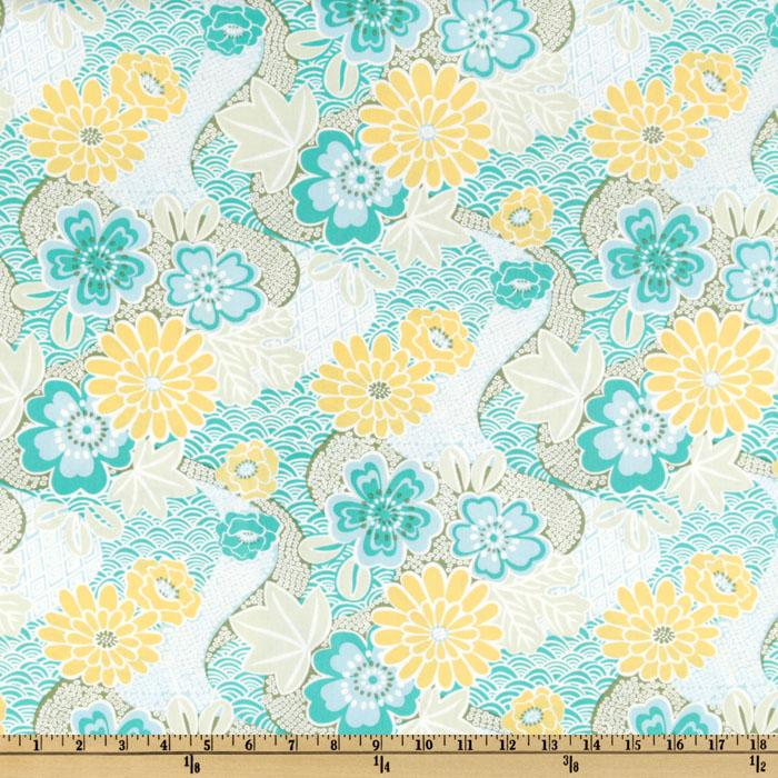 Soliel Floral Garden Laminated Cotton Sea