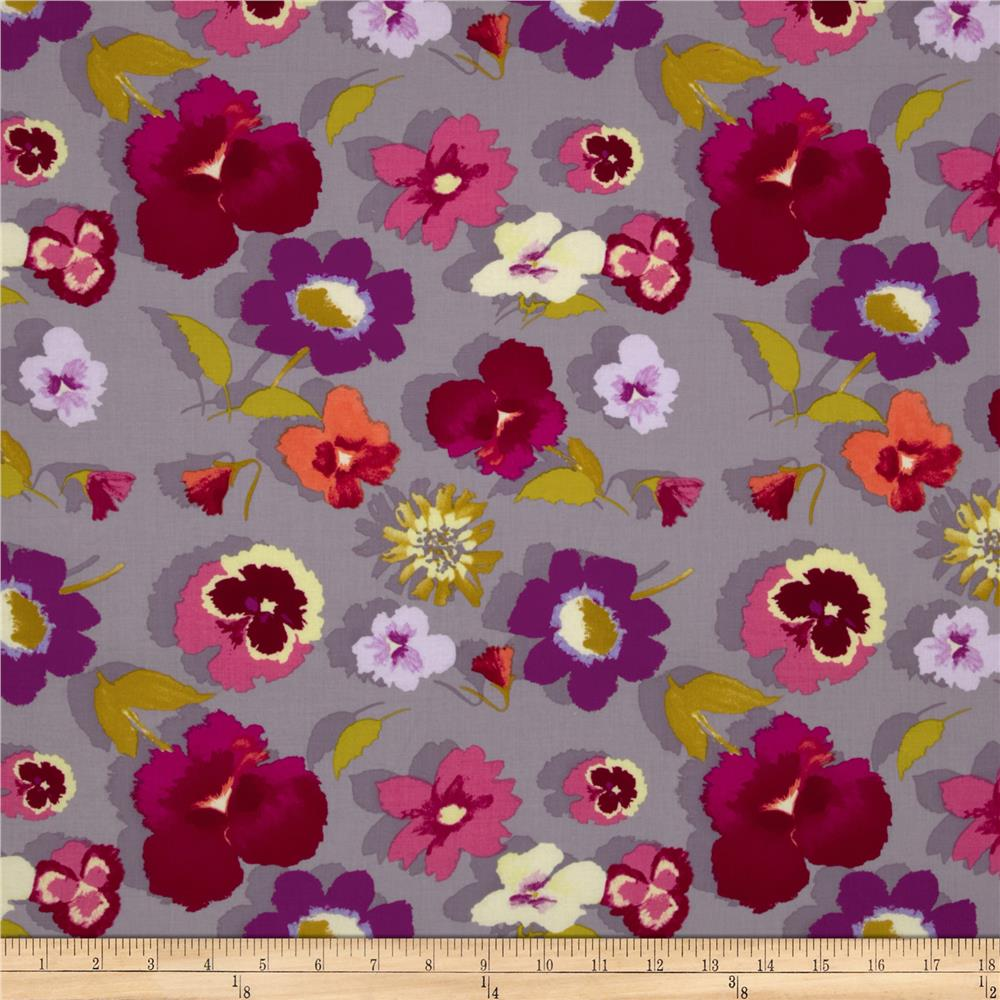 Secret Garden Large Floral Pebble Grey