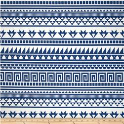 Scuba Knit Tribal Blue/White