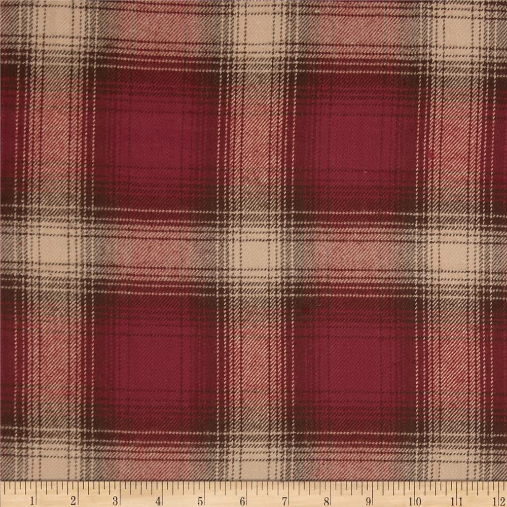 Primo Plaids V Flannel Large Plaid Red