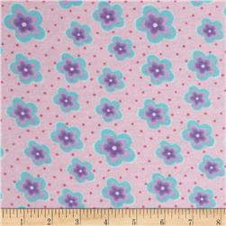 Newcastle Flannel Robyn Floral Pink