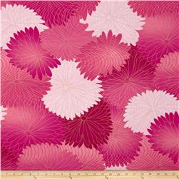 Kanvas Sakura Metallic Blossoms Rose Fabric