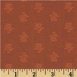 Harvest Palette Small Floral Cluster Rust
