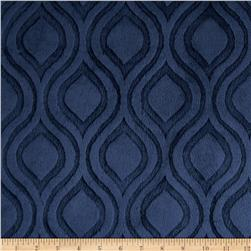 Premier Prints Embossed Marquise Cuddle Navy