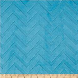 Minky Cuddle Embossed Chevron Turquoise Fabric