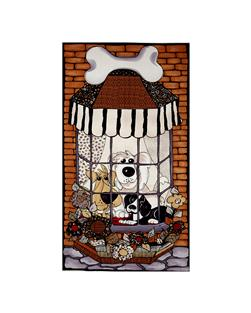 Loralie Designs Dear Doggie Delight Doggies In The Window Panel Multi