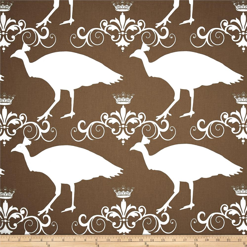 Premier Prints Peacock Drew Italian Brown