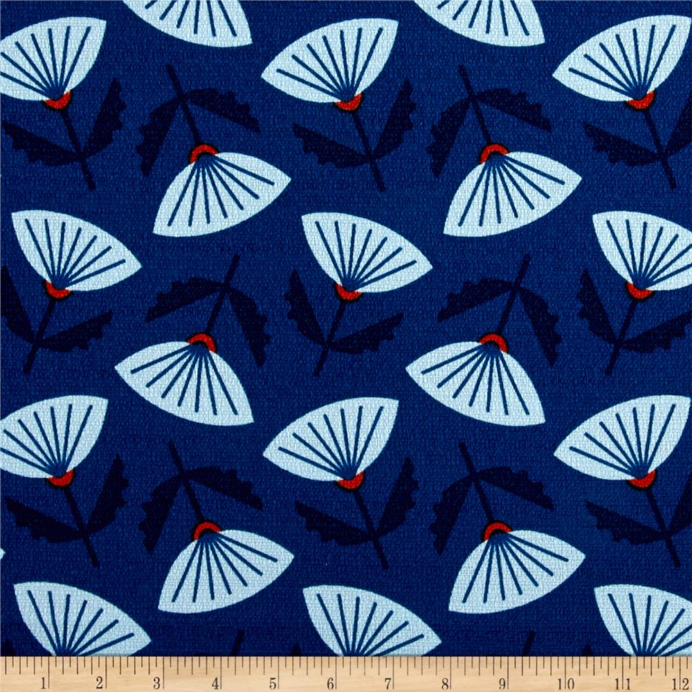 Cloud 9 organic in theory barkcloth meridian blue for Fabric purchase