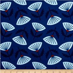 Cloud 9 Organic In Theory Barkcloth Meridian Blue