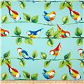 Richloom Solar Outdoor Curious Birds Sky