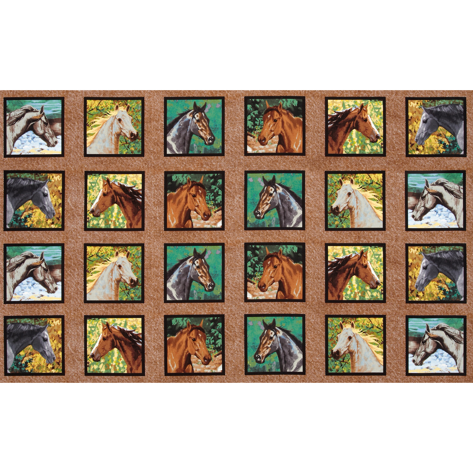 Wild Wings Endless Summer Horse Head Panel Blocks
