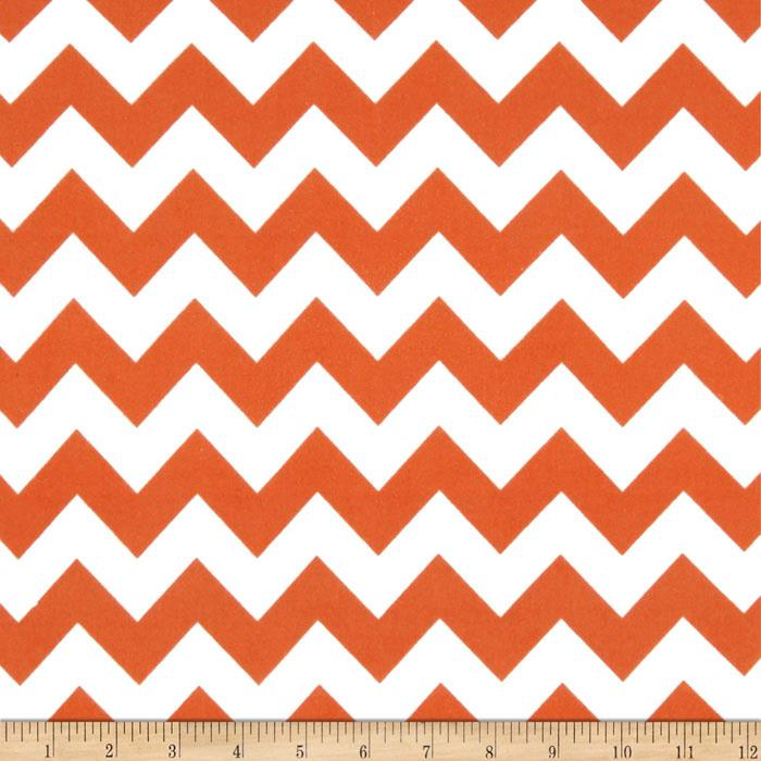 Riley Blake Flannel Basics Chevron Medium Orange
