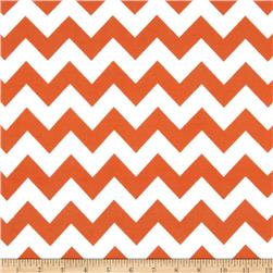 Riley Blake Flannel Basics Chevron Medium Orange Fabric
