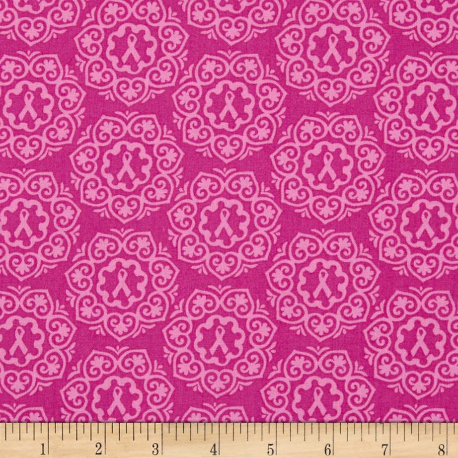 Project Pink Ribbon Medallions Pink